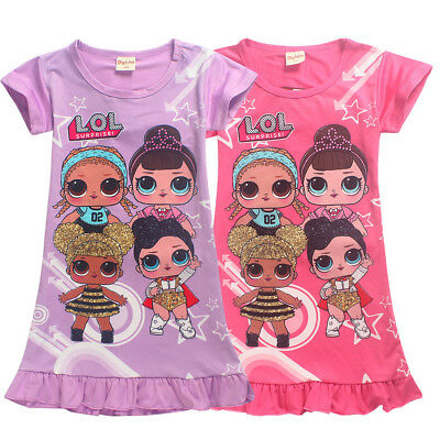 lol surprise dolls Game Girls Dresses Nightwear Nightdress Pyjamas Skirts shirts