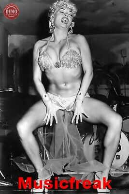 4x6 REPRINT Vintage Burlesque Dancer Lilly Christine