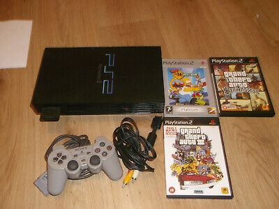 PS2 Playstation 2 console original with 3 games - bundle lot