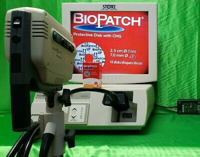 """Welch Allyn Video Path COLPOSCOPE  88100 Light Source 40500 & Storz 19"""" Monitor"""