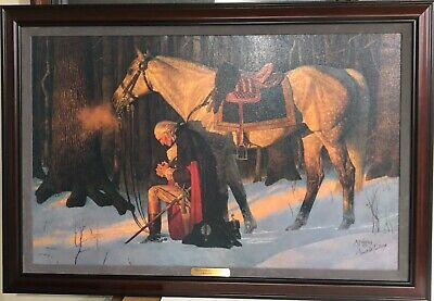 THE PRAYER AT VALLEY FORGE ARNOLD FRIBERG SN FRAMEDCANVAS 44'x30' EXTREMELY RARE