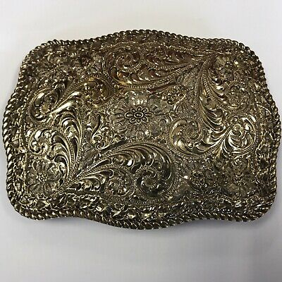 Solid Sterling Silver San Carlos Belt Buckle Crumrine Jewelers Signed