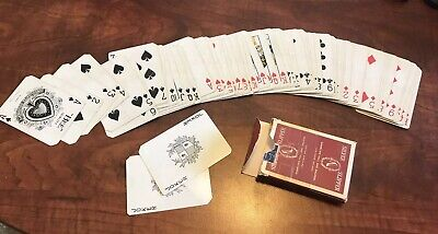 RARE Vintage Las Vegas Silver Slipper Casino RED Playing Cards Complete, Jokers