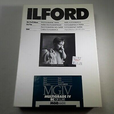 ILFORD Photo Paper MGIV Multigrade IV RC Deluxe Matte Pearl 100 Sheets 5x7 Inch