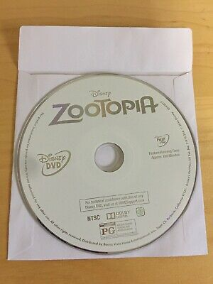 Disney Zootopia, 2016,  Disc Only (DVD, Animation), Authentic