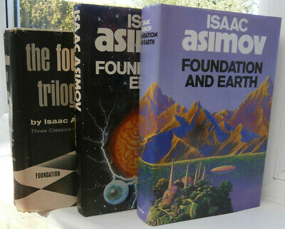 Isaac Asimov  The Foundation Trilogy +Foundations Edge +Foundation And Earth Hbs