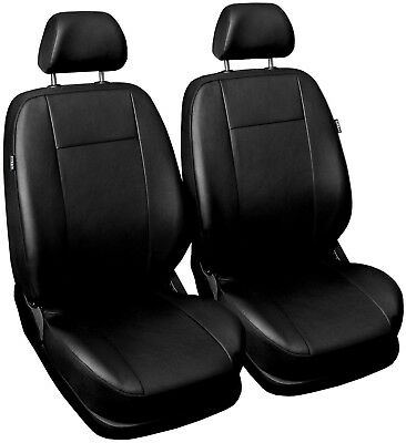 Front Leatherette seat covers fit Peugeot 208 1+1 black