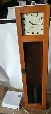 Vintage 1951 Gents Leicester Regulator Master Clock Pul Syn Etic Pulsynetic