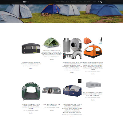 Tents & Camping Supplies Uk Website With Domain - Work From Home Business