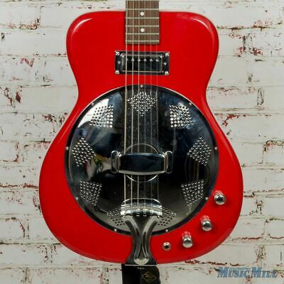 Eastwood Airline Folkstar Electric Dobro Resonator Red/White (USED)