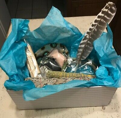 DELUXE SAGE SMUDGE KIT for Blessing/Cleanseing/ Purification with Storage Box
