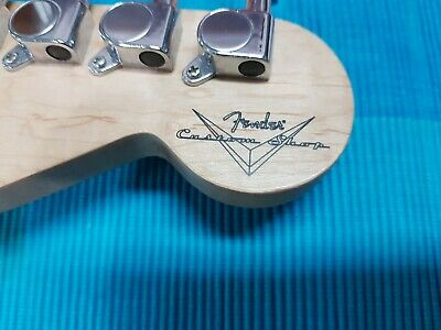 Fender Custom Shop headstock vinyl sticker for Stratocaster o Telecaster Guitar