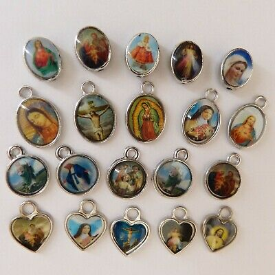 Jesus, Saints, Catholic,Holy, Religious, Christian, Icon Charms, Rare Mixed Bags