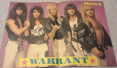 Warrant Guns N Roses Centerfold Clipping From A Magazine 80'S Jani Lane