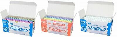 Nihon Rikagaku Industry Chalk Hagoromo Fulltouch White, Bright 6 Color 72pcs JP