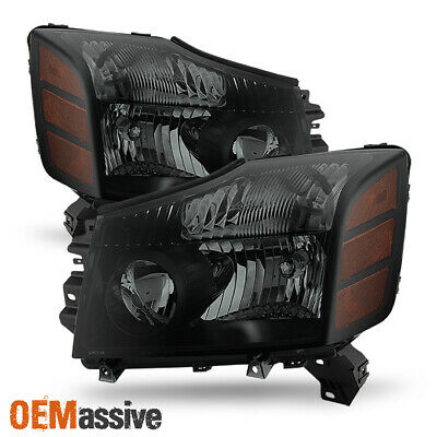 Fits 2004-2015 Titan 2004-2007 Armada Headlights Replacement Lamps Left + Right