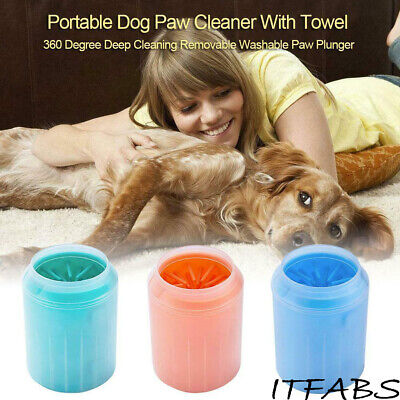 US Super Cup Dog Foot Cleaner Feet Washer Brushes Dog Paw Pet Cleaning Brush