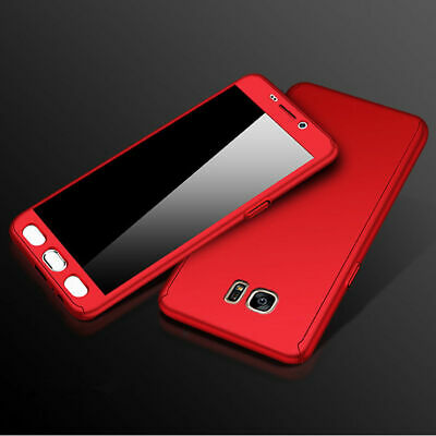 360° Full Cover Case + Tempered Glass For Samsung Galaxy J3 2016 2017 J4 J6 2018
