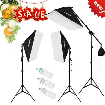 Adjustable Kit d'éclairage continu Photo Studio LED Support de lampe+3*135W SALE