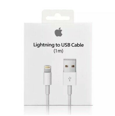 2 PACK OEM Original Apple iPhone 5,6,7,X Lightning USB Cable Charger 3 ft (1M)