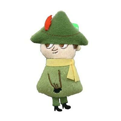 Sekiguchi Moomin Snufkin Small Plush Badge 9.3x5x1.8cm Japan