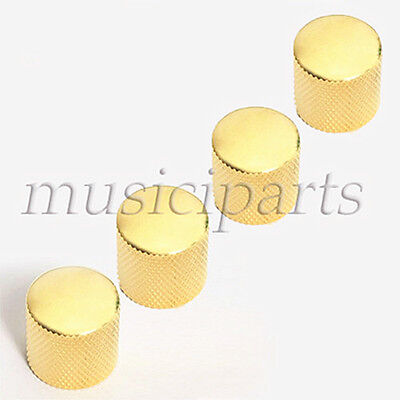 4 Gold Metal Guitar Dome Knob Control for Fender Tele Guitar Parts
