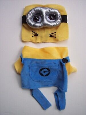 Despicable Me Minion Pet Dog Costume Outfit XS