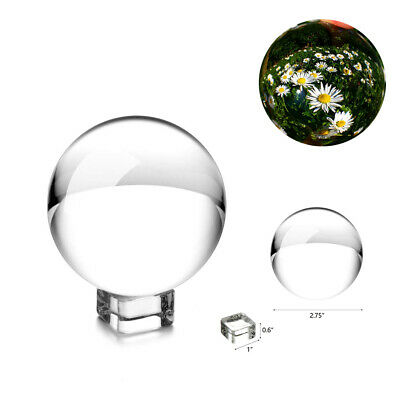 K9 50-80mm Clear Crystal Paper Photography Lens Ball Photo Prop  Holder+ Decor