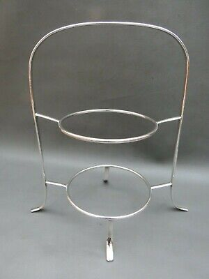 Vintage silver plated 2 tier cake stand for cake plates