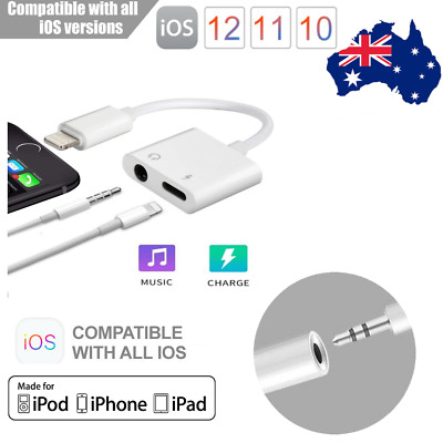 2 in 1 iPhone X 8 7 Lightning to 3.5mm Aux Headphone Jack Audio Adapter Cable