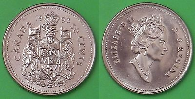 1993 Canada Coat of Arms 50 Cents From Mint Roll
