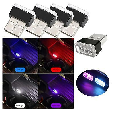 Universale Mini LED Auto Luce Interna USB Atmosphere Lampada Neon Ambiente