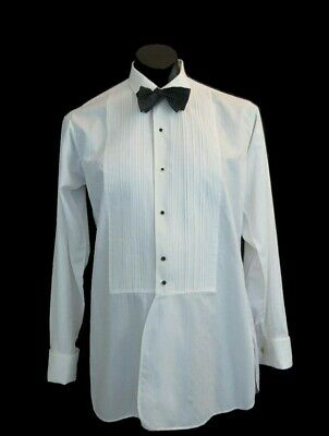Dress Shirt With Pleated Front and French Cuffs by Welmar - 1950s - Neck 37 cm