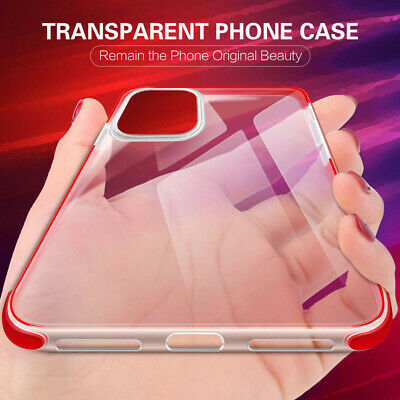 Shockproof Soft Clear Slim Silicone Case Cover For iPhone XS Max XS XR 8 7 Plus