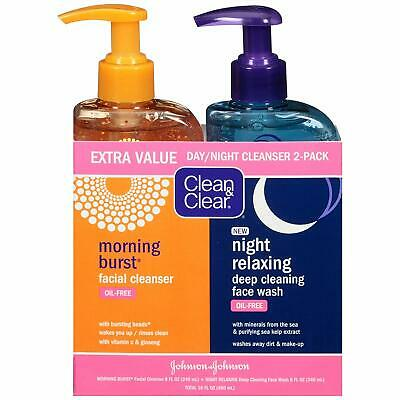 Clean & Clear 2-Pack Day and Night Face Cleanser Citrus Morning Burst Facial