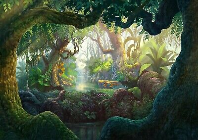 Amazing Magical Forest Poster Size A4 / A3 Fantasy Nature Art Poster Gift #12398