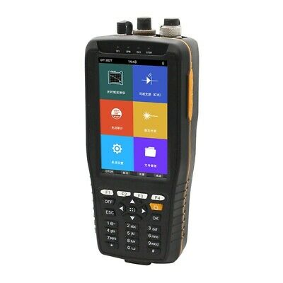 4 Inch Screen 60KM Optical Time Domain Reflectometer OTDR VFL OPM OLS Red Light