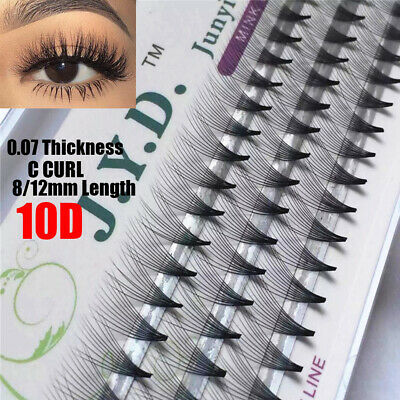 Mink 10D Eyelash Extensions /Russian Volume Pre Made Fans /Curl C 0.07 8/12mm