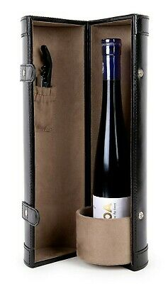 Genuine Leather Handicraft Bottle Wine Protector Carrier Accessory Travel set-2