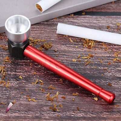 Metal Tobacco Herb Pipe Cigarette Filter Holder Durable Smoking Accessories Red