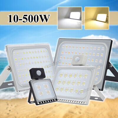 10-500W LED Floodlight Outside Wall Light Security Flood Lights Cool white UK