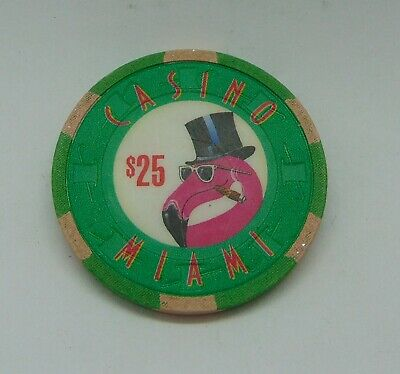 Casino Chip $25 Casino Miami Flamingo Poker Chip