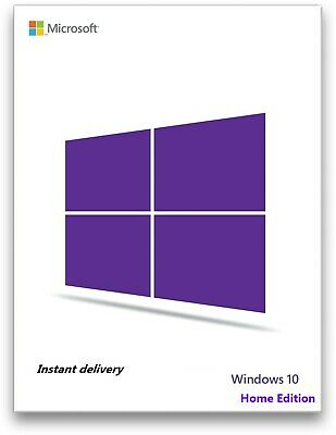 Instant Microsoft Windows 10 Home  Edition 32/64 bit Genuine License Key
