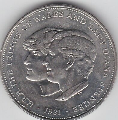 1981 QEII 25p CROWN PRINCE PHILIP LADY DIANNA COIN Uncirculated