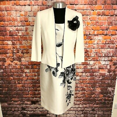 JACQUES VERT Mother Of The Bride Suit UK 10 Women's Ladies Dress & Jacket