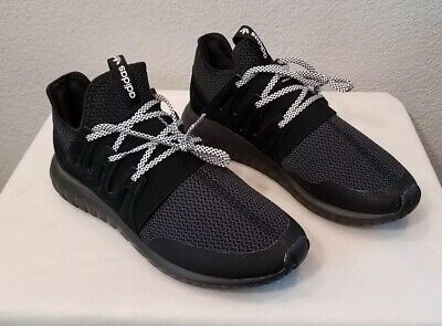 detailed look c01a7 0e0bc NEW ADIDAS TUBULAR Radial Shoes S80115 Triple Black-Grey ...