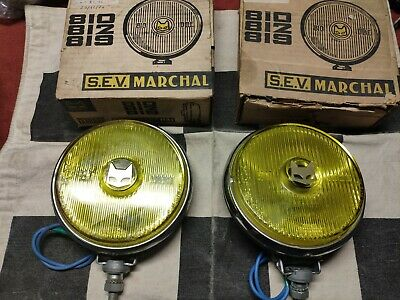 Paire d'anti brouillard MARCHAL 810 neuf -  NOS fog lamps - Alpine Ford