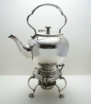 Rare Bachelors Size Antique Victorian Silver Plated SPIRIT KETTLE Tea Pot Stand