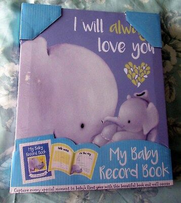 Baby Record Book & Canvas Print   Brand New & Packaged