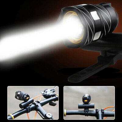 Rechargeable LED Bike Bicycle Light USB Waterproof Cycle Front Flash Headlight